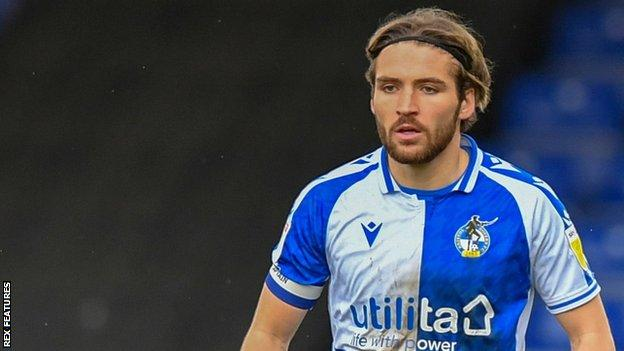 Luke Leahy in action for Bristol Rovers