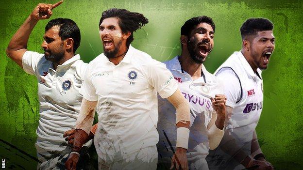Mohammed Shami, Ishant Sharma, Jasprit Bumrah, Umesh Yadav