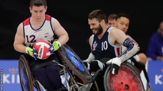 The Quad Nations Wheelchair Rugby event