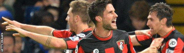 Bournemouth celebrate a victory over Chelsea