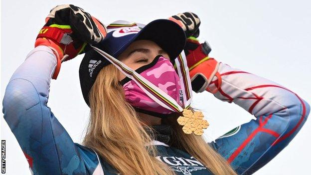 Mikaela Shiffrin has won nine World Championships medals