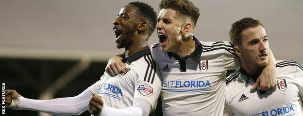Moussa Dembele, Tom Cairney and Ross McCormack