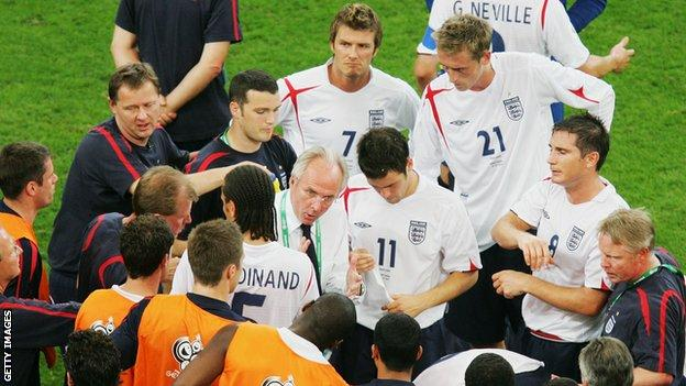 England were beaten by Portugal on penalties in the quarter-finals of the 2006 World Cup