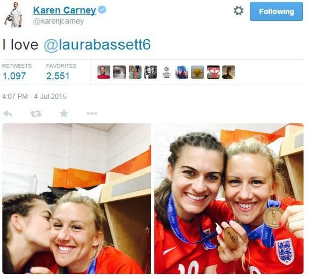 Karen Carney and Laura Bassett
