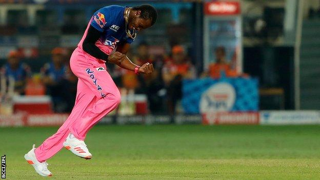 England and Rajasthan Royals bowler Jofra Archer