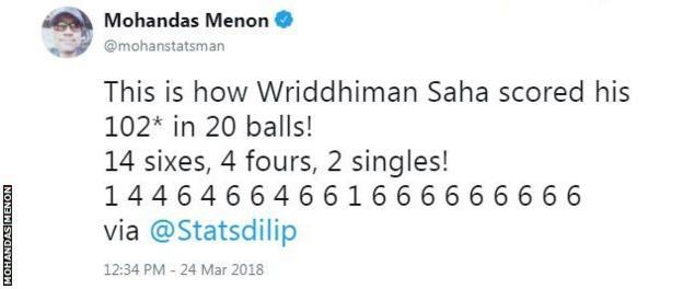 Cricket statistician Mohandas Menon