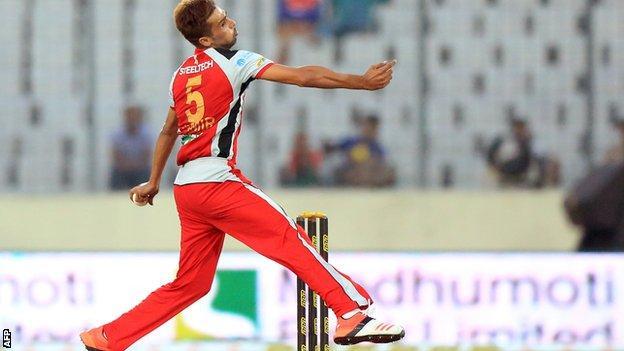 Mohammad Amir in the Bangladesh Premier League