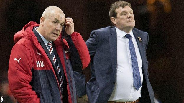 Former Rangers boss Mark Warburton and St Johnstone manager Tommy Wright