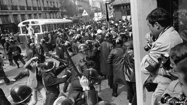 French riots in 1968