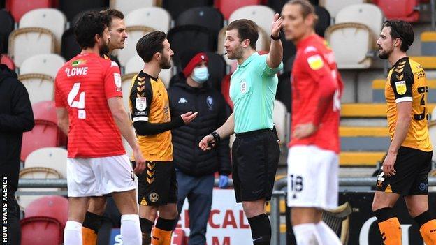 Josh Sheehan shown a red card