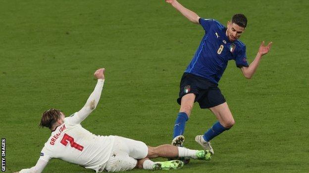 Jorginho's tackle on Jack Grealish