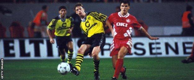 Tottenham signed midfielder Steffen Freund (left) from Borussia Dortmund in 1998.