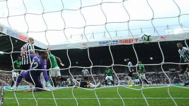 Brighton goal against Newcastle at St James'
