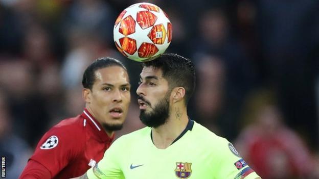 Van Dijk helped Liverpool beat Barcelona 4-0 at Anfield in the semi-final second leg