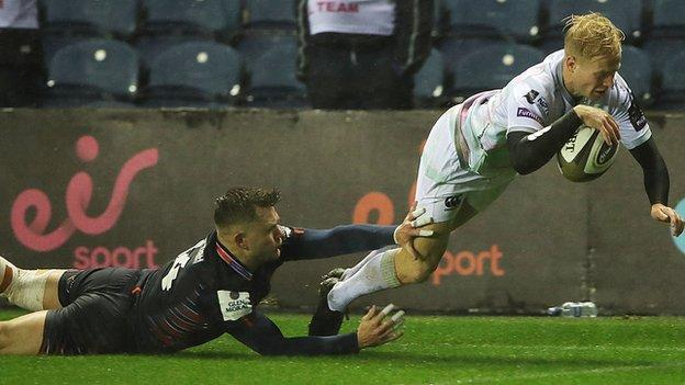 Wing Matt Protheroe scored two tries in Ospreys first weekend Pro14 win at Edinburgh
