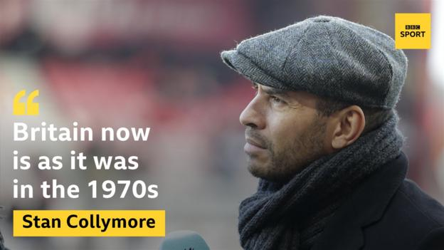 "A quote from Stan Collymore's column in the Guardian: ""Britain now is as it was in the 1970s"""