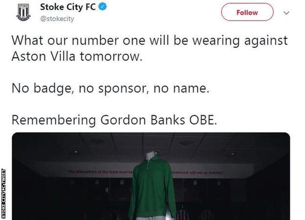 Stoke City FC tweet