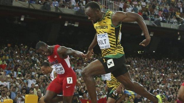 Usain Bolt beats Justin Gatlin in Beijing