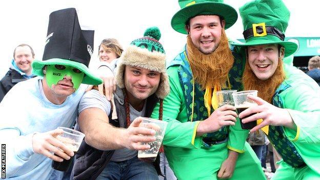 London Irish supporters