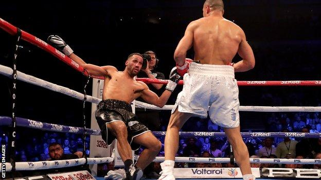 Eubank Jr forced DeGale to take a knee in the second round