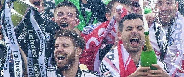 Ayr United celebrate