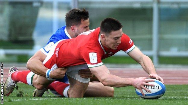 Wales wing Josh Adams has scored 17 tries in 32 internationals