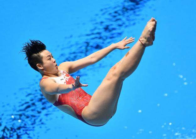Chen Yiwen of China in action