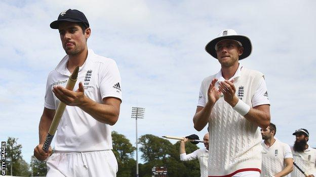 Alastair Cook and Stuart Broad