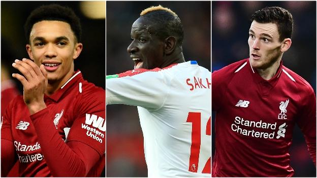 Trent Alexander-Arnold (Liverpool), Mamadou Sakho (Crystal Palace), Andrew Robertson (Liverpool)