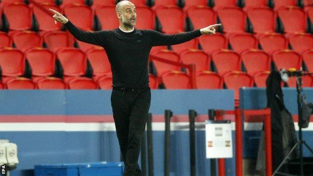 Champions League: Manchester City boss Pep Guardiola tells team not to be 'shy' thumbnail