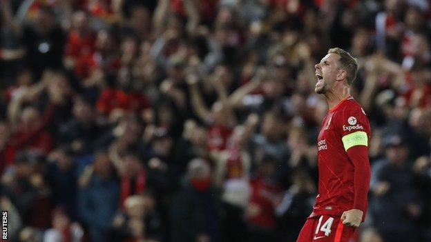 Henderson scored his first goal for Liverpool since December