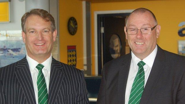 Steve Dewsnip and Mark Le Tissier