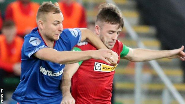 Linfield and Cliftonville meet in the League Cup just two weeks after their County Antrim Shield encounter