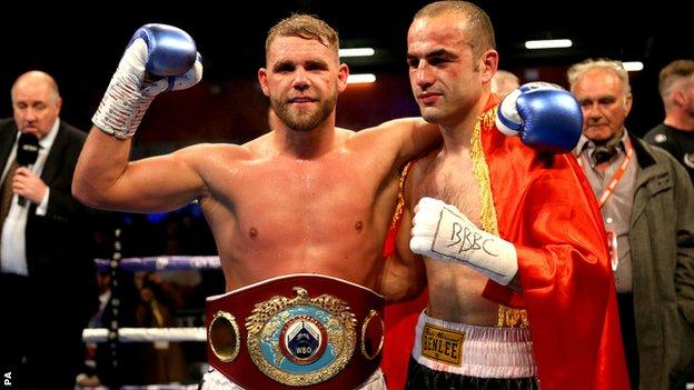 Saunders now has 28 wins and has held world titles at two weights