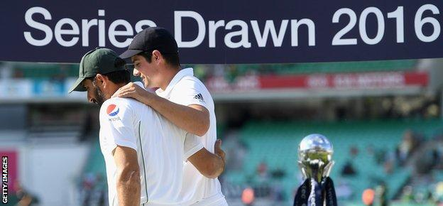 Misbah-ul-Haq and Alastair Cook