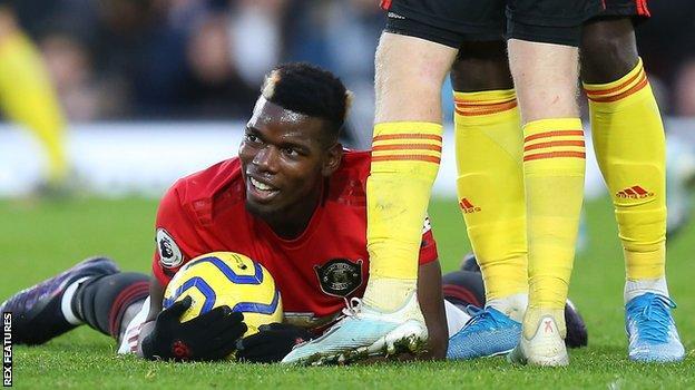 Man Utd midfielder Paul Pogba