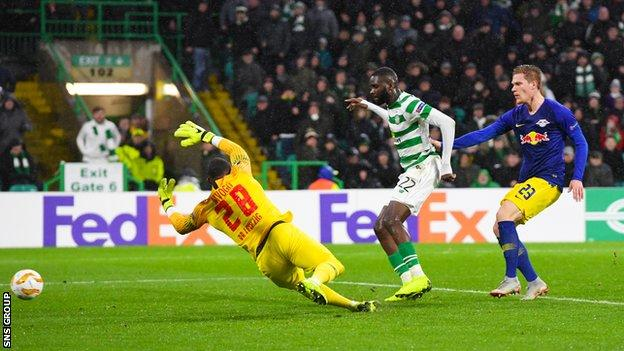 Odsonne Edouard tapped in Celtic's winner just a minute after Leipzig had equalised