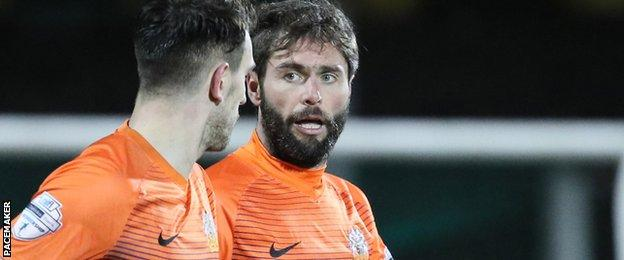 Glenavon player-manager Gary Hamilton's goal helped swing the game in his side's favour