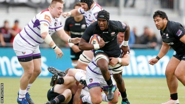 England youth international Joel Kpoku scored a try on his Saracens debut