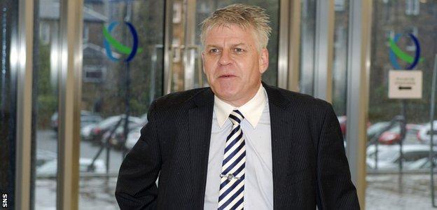 Stranraer chairman Iain Dougan