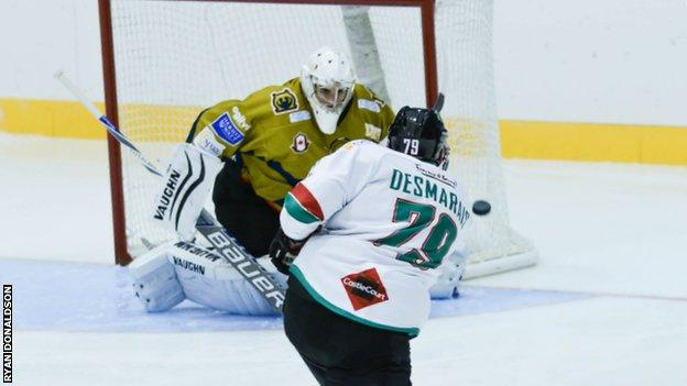 Action from the Challenge Cup games between Edinburgh Capitals and the Belfast Giants