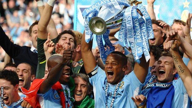 Man City lift trophy in 2019