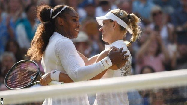 serena williams and angelique kerber