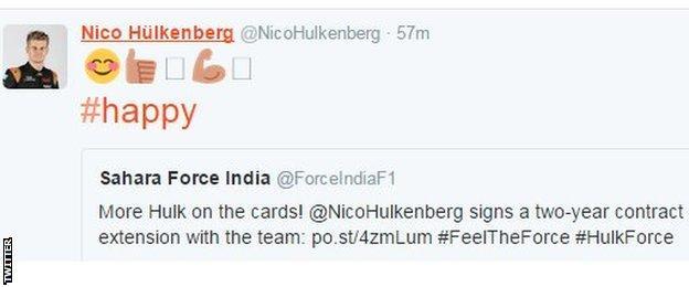 Nico Hulkenberg Twitter