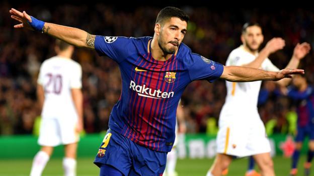 Barcelona 4 1 Roma Bbc Sport