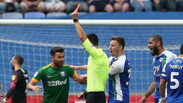 Ledson has been sent off twice this season