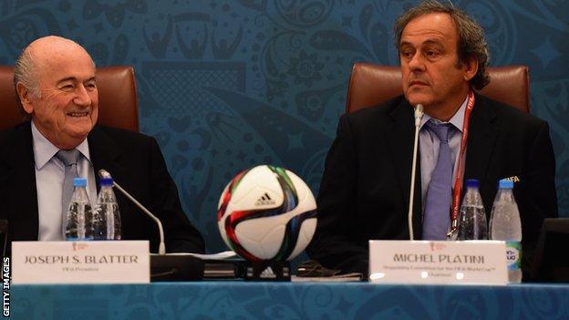 Fifa president Sepp Blatter (left) and vice-president Michel Platini
