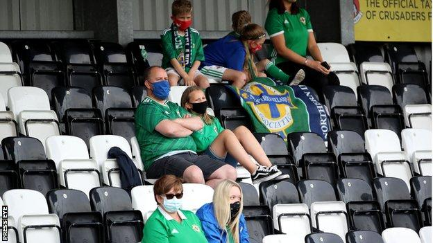 Northern Ireland fans at Seaview