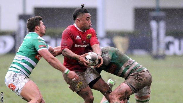 Francis Saili was one of Munster's try-scorers against Treviso
