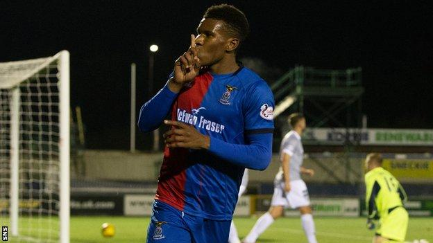 Riccardo Calder in Inverness Caledonian Thistle colours